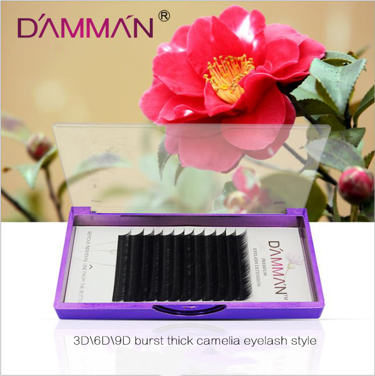 HUAPAN 3D Mink păr gene false grefare camellia gros moale J / B / C - Machiaj