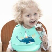 12 colors new design Baby bibs waterproof silicone feeding baby saliva towel newborn cartoon aprons Bibs