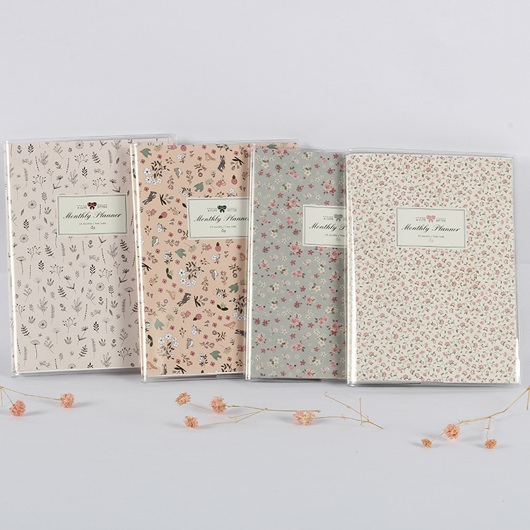 Cute Flowers Monthly Planner Free Notes Notepad Color Papers Notebook Schedule Book Office & School Supplies Stationery Store