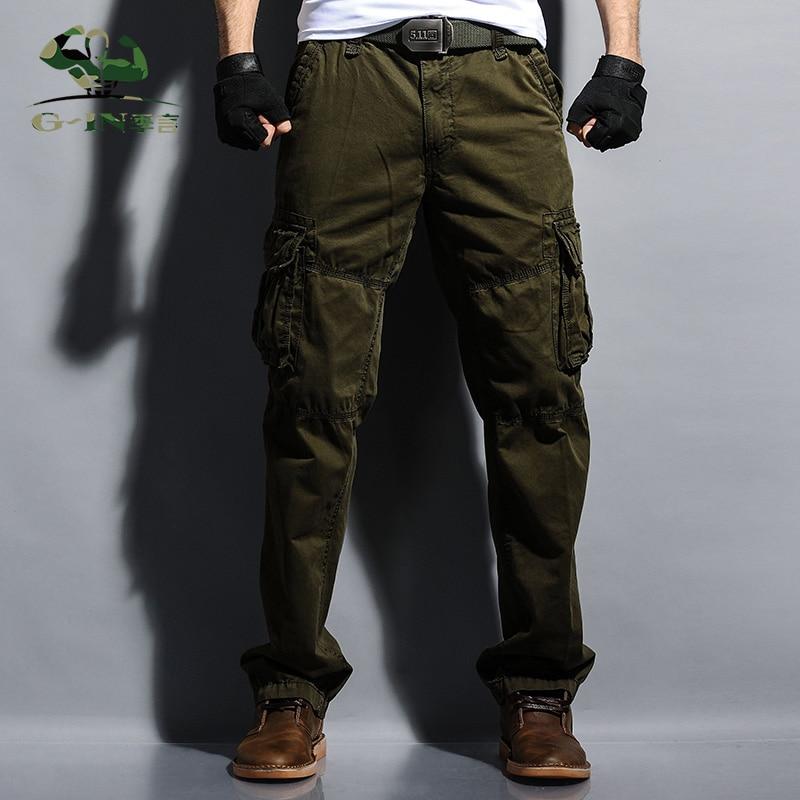 Neue Männer keucht Vlies plus Hosen der Größen-Militärmänner - Herrenbekleidung - Foto 4