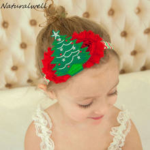 Naturalwell Baby Girls Christmas Flower Head Accessories Hairband Infant holiday Headband Princess Elastic Hairbands 1pc HB466(China)