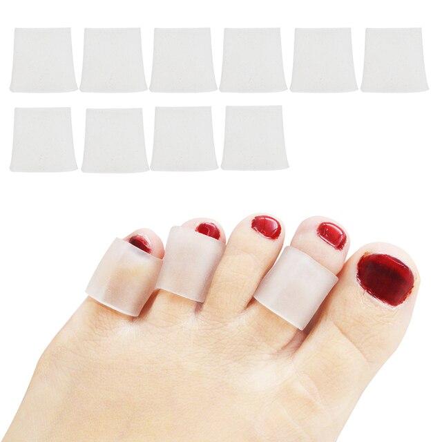 ae667417e 10 pcs Pé Removedor de Calos Bolhas Gel Tubo Bandagem Dedo Mindinho   Foot  Pain Relief