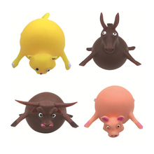 Children Funny Blowing Animals Toys Anxiety Stress Relief Inflatable Animal Balloon Squeeze Ball