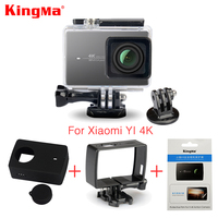 Kingma Waterproof Case Frame Screen Protector Film Silicone Case Lens Cover For Xiaomi Yi 4K Action