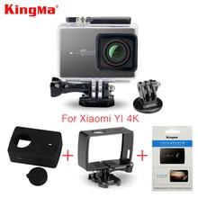 Kingma מקרה עמיד למים + מסגרת + מסך סרט מגן + מקרה סיליקון + עדשת כיסוי עבור Xiaomi יי 4 K ערכת מצלמה פעולה 2 השני אבזרים