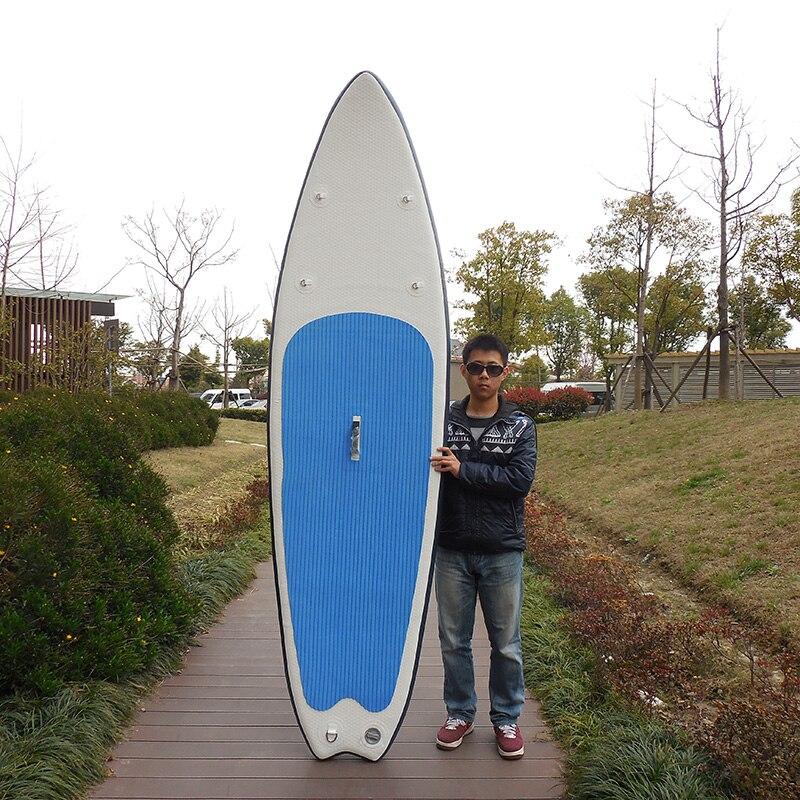Sommer vand sport sjov 11ft 76cm bred 10cm tykk opustelig sup stående op paddle board brede bord til begynder på salg
