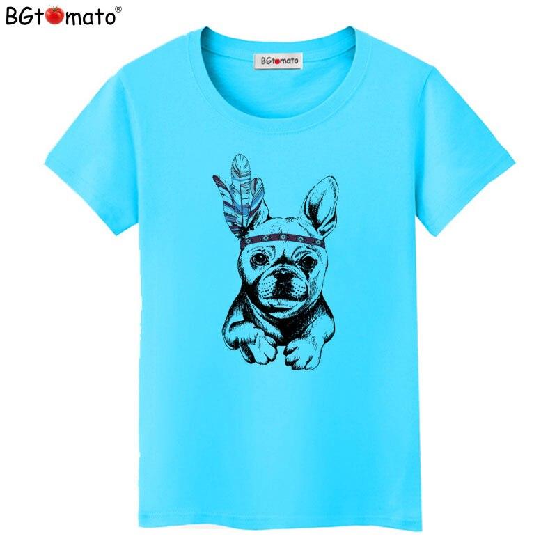 BGtomato Brand new lovely dog t-shirts beautiful women short sleeve casual shirts Good quality women tops cool tees cheap sale