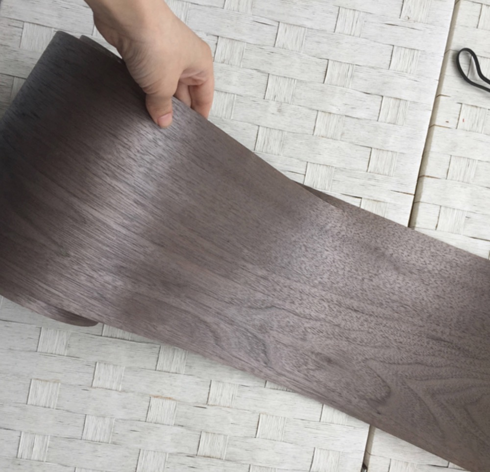 1Piece Lengh:2.5Meters Width:15cm Thickness:0.25mm Walnut Wood Veneer Furniture Edge Strip