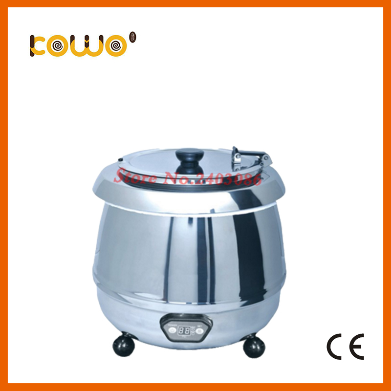 10l round kitchen electric food warmer stainless steel buffet soup bain marie catering food display warmer food processor