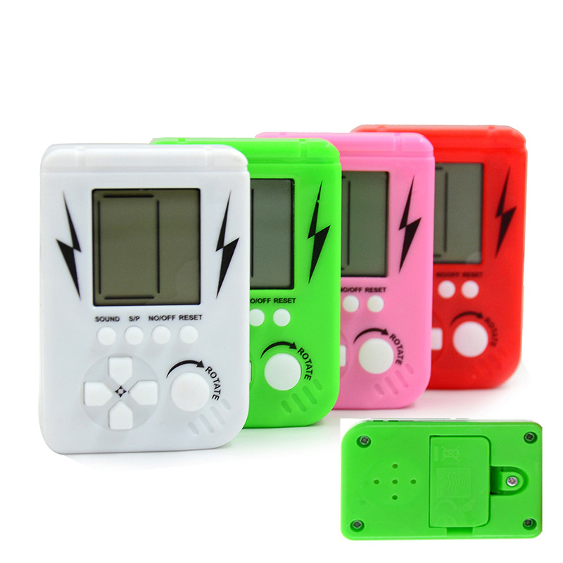 Mini Brick Game Tetris Children Handheld Game Console ...