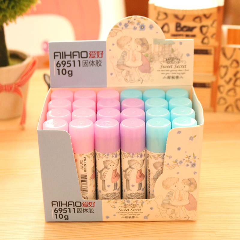 DIY Cute Kawaii Plastic Solid Glue Stick Lovely Sweet Secret Glue For Paper Files Art Office School Supplies Korean Stationery цены