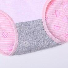 Feilibin 5Pcs/lot Panties WomenUnderwear Cotton Comfort Seamless Girls Lovely Print Briefs Breathable Women Lingerie Underwear