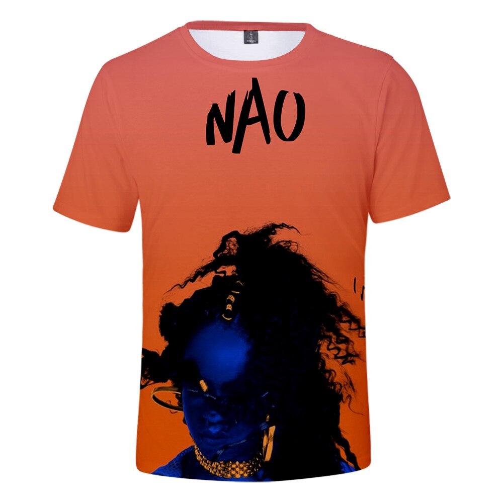 New T shirt NAO Singer 3D print o neck Short Sleeve Men Women Tshirt Summer Streetwear Leisure Hip Hop Harajuku Cool Tshirt