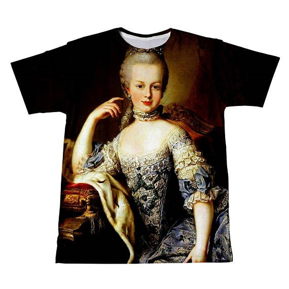 Summer Short Sleeve Tee Marie Antoinetter T-Shirt Casual Style The Queen And The Guillotine  T Shirt Hipster Tops Clothing