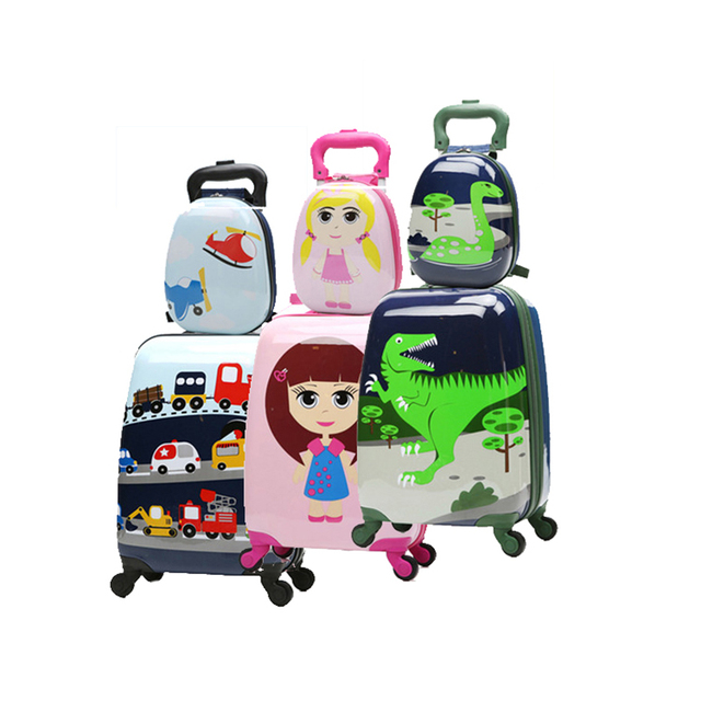 LeTrend Cute Cartoon Children Rolling Luggage Set Spinner Suitcase Wheels Students 18/20 inch Carry on Trolley Kid Travel Bag