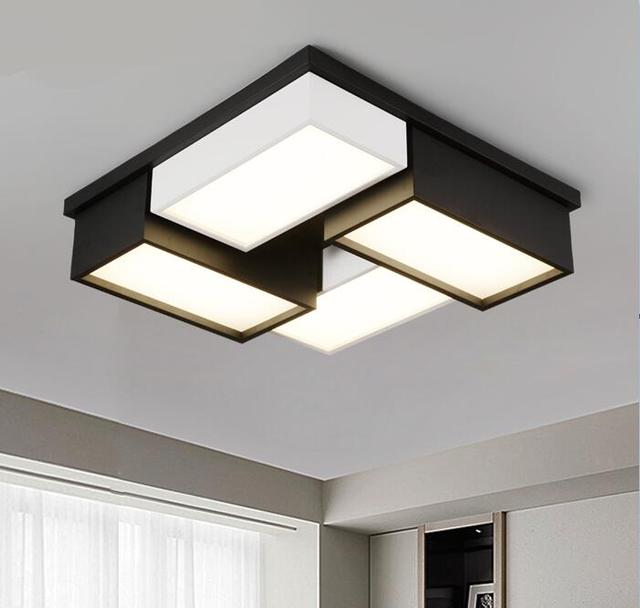 Modern Office Ceiling Lamp Personality LED Square Living Room Bedroom Lamp  Modern Romantic Lamp ZA BG3