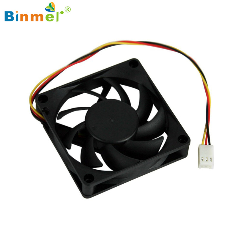 Hot-sale BINMER Computer Fan Cooler 3 Pin Quiet 70x70x15mm 12V Computer PC CPU Silent Cooling Case Fan aerocool 15 blade 1 56w mute model computer cpu cooling fan black 12 x 12cm 7v
