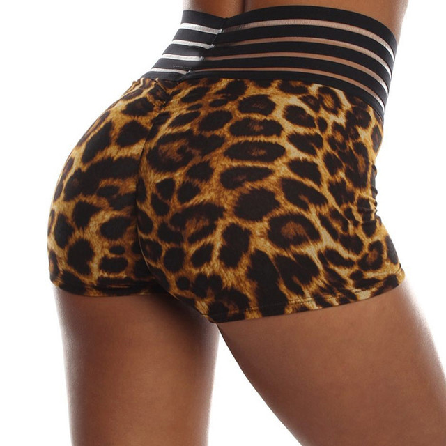 Leopard Printed Summer Casual  Shorts