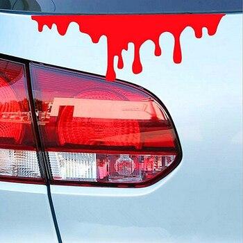 Reflective Red Blood Bleeding Car Sticker Car Decals Rear Front Headlight Sticker hot car sticker accesorios automovil 2