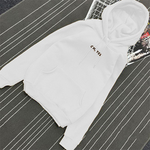 Autumn Winter Fleece Oh Yes Letter Harajuku Print Pullover Thick Loose Women Hoodies Sweatshirt Female Casual Coat