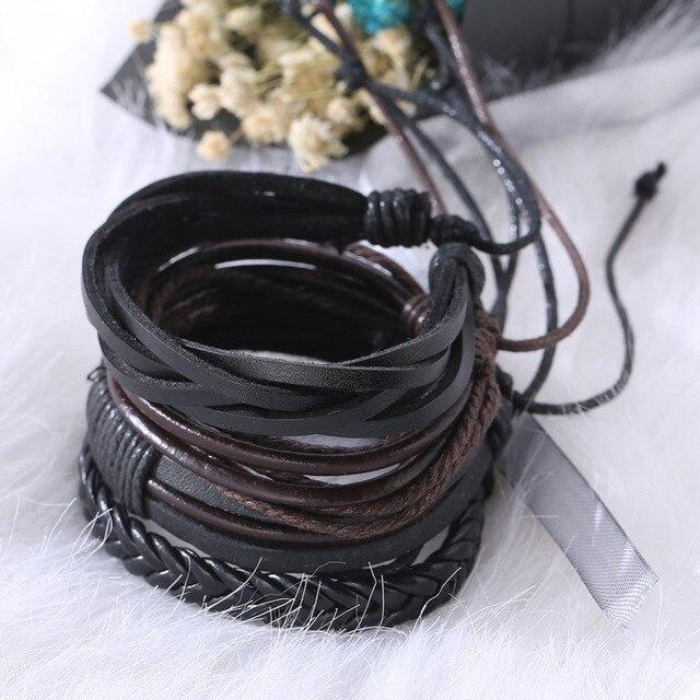 Bracelets & Bangles mens leather bracelets Pulseira Masculina Jewelry Charm Bileklik Pulseiras Boyfriend Girlfriend 3