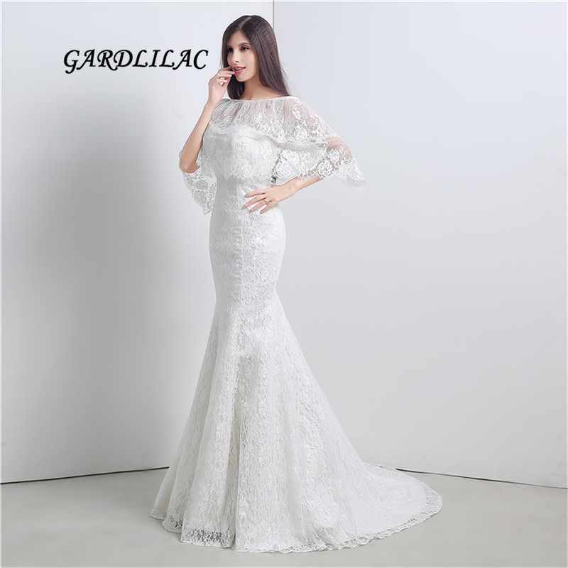 Wedding Gown Wraps: New White Lace Wedding Dresses With Shawl Plus Size