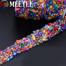1Meter Rhinestones Lace Trims Sew-on Crystal Chain Lace Ribbons Tape Wedding Dress Wedding Party Home Decoration DIY Accessories