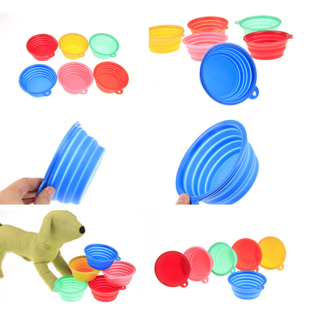 Fording Dog Feeding Bowl Collapsible Cats Water Dish Cat Portable Feeder Puppy Travel Bowls Drinker Convenience Dog Feeders