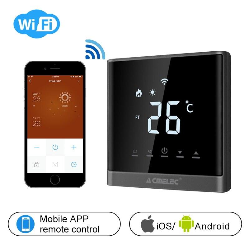 Chaudière à gaz de Thermostat intelligent de Thermostat de WIFI/Watre/chaleur électrique de plancher LED de contrôle de WIFI voix de Thermostat 16A/3A LED
