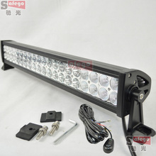 "1pcs 22""120w led spot flood led work light bar with wires near far combo bar led off road 120w led lamp offroad truck 4×4 4wd"