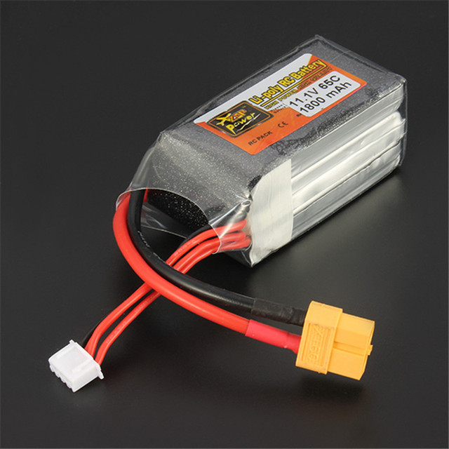 1pcs Rechargeable Lipo Battery ZOP Power 11.1V 1800mAh 65C 3S Lipo Battery XT60 Plug For RC Model