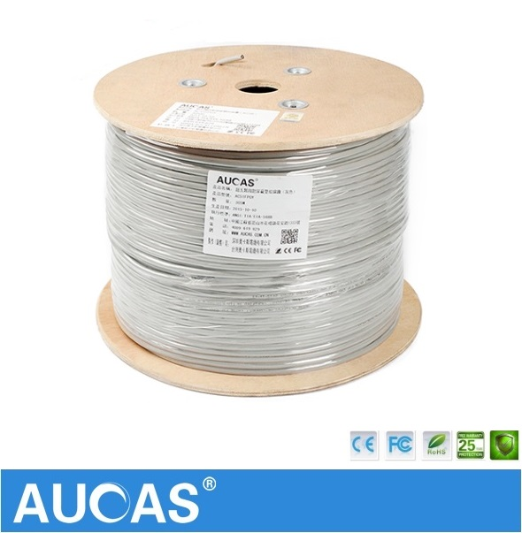 все цены на AUCAS High Speed Cat5e Network Cable 50m 100m 305m FTP Shield shielded cable cat5 онлайн