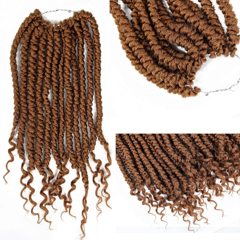 Кудрявые Сенегальские накрученные волосы крючком оплетка 14 дюймов 12 корней/упаковк канекалон Омбре синтетические пле