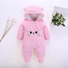 Детские комбинезоны; зимние теплые плотные бархатные комбинезоны для новорожденных; комбинезоны с длинными рукавами для маленьких девочек