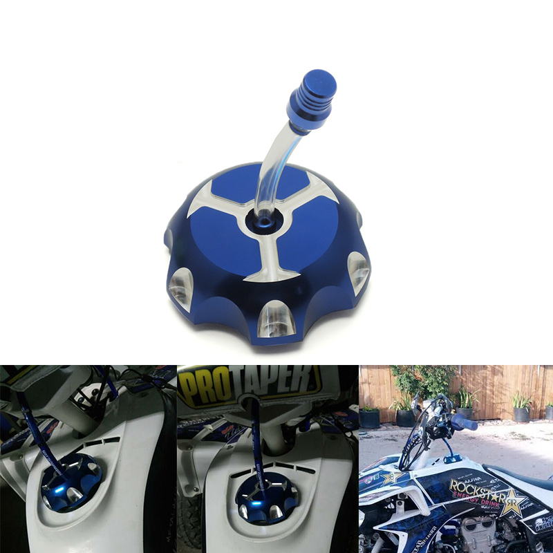 KEMiMOTO Fuel Tank Cap For Yamaha 350 BANSHEE 350 AND BLASTER 200 Billet Aluminum Oil Gas Cover For Yamaha 350 ALL YEARS