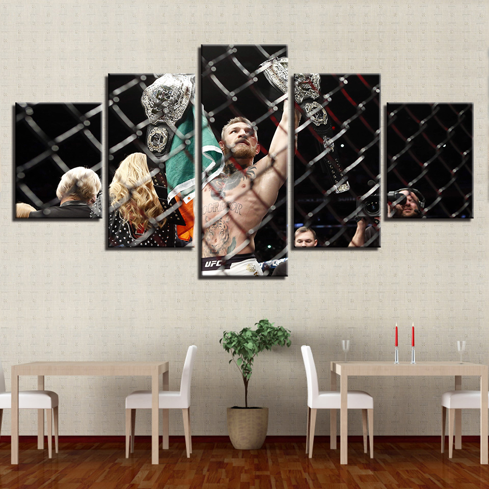 HD Wall Painting Art Modular Pictures Printed Modern Canvas 5 Panel Boxing Living Room  Home Decoration Cuadros Frame Poster