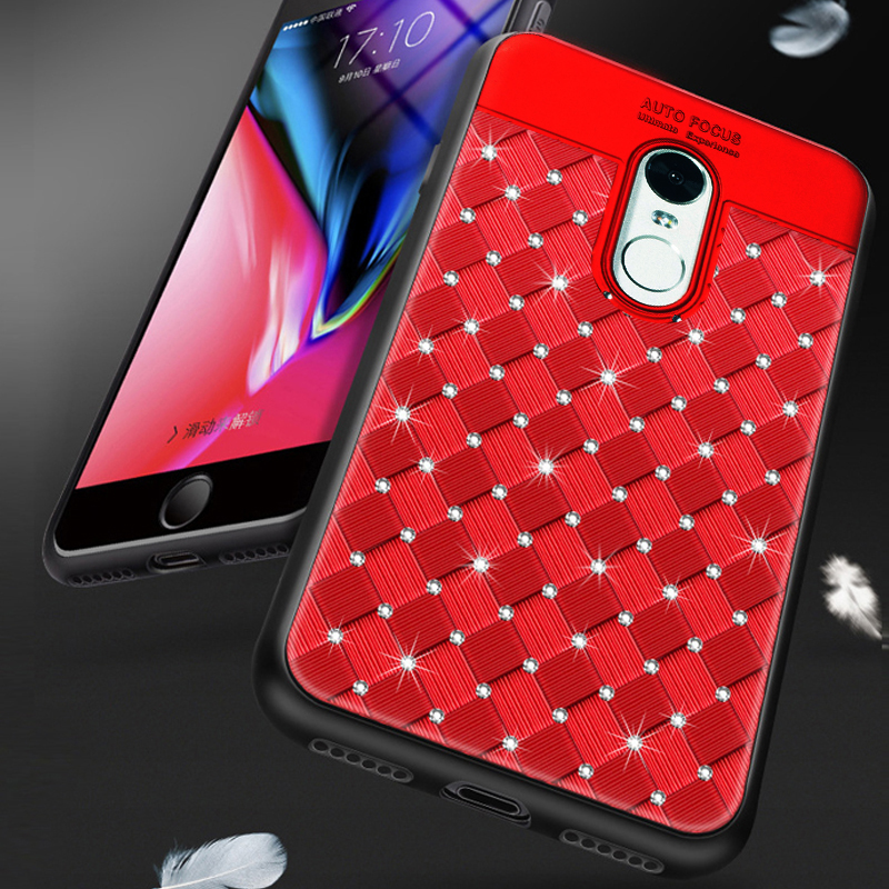 , YonLinTan  glitter diamond 3D coque,cover,case For Xiaomi Redmi 5 Plus 5Plus xiomi on luxury back Phone global cases