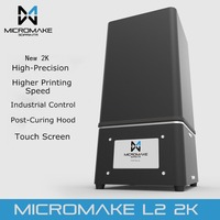 Micromake New Upgrade L2 2K Resolution UV Resin 3D Printer SLA/DLP 3D Printer for Curing with Touch Screen High Accuracy