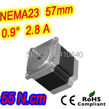 ФОТО 12  pieces per lot  high resolution step motor 23HM16-2804S L 41 mm Nema23 with 1.8 deg  2.8 A 55 N.cm and  bipolar 4 lead wires
