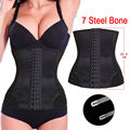 Waist Trainer Body Shaper 7 Spiral Steel Boned Shapewear Waist Cincher Underbust Waist Training Corset Black Shaper for Women
