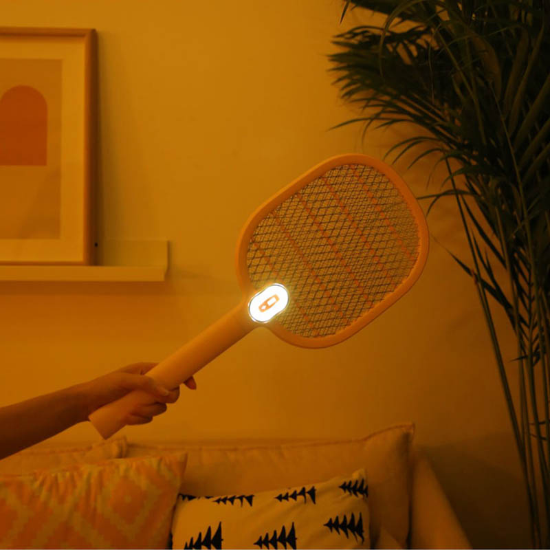 Image 3 - Xiaomi Mijia Electric Mosquito Swatter Rechargeable LED Electric Insect Bug Fly Mosquito Dispeller Killer Racket 3 Layer Net H30-in Smart Remote Control from Consumer Electronics