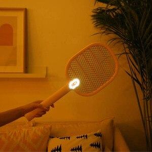 Image 3 - Youpin Mijia חשמלי מחבט יתושים נטענת LED חשמלי חרקים באג יתושים Dispeller רוצח מחבט 3 שכבה נטו H30