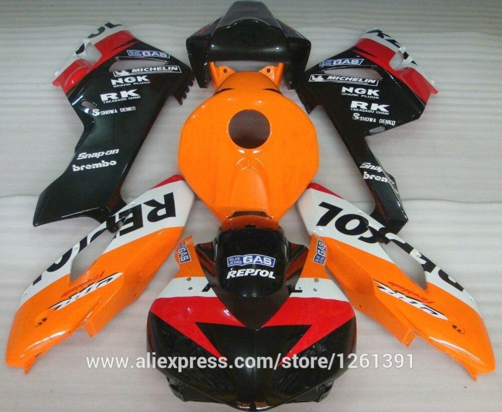 REPSOL подходит инъекции Обтекатели для Honda CBR1000RR 04 05 CBR1000 RR 2004 2005 CBR 1000RR 04 05 обтекателя комплекты бак