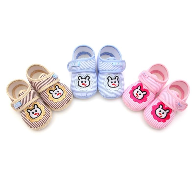 New 2017 Soft Autumn bottom anti-skid cotton school shoes baby leisure baby Boys girls Newborn Prewalker Toddler shoes 0-12M