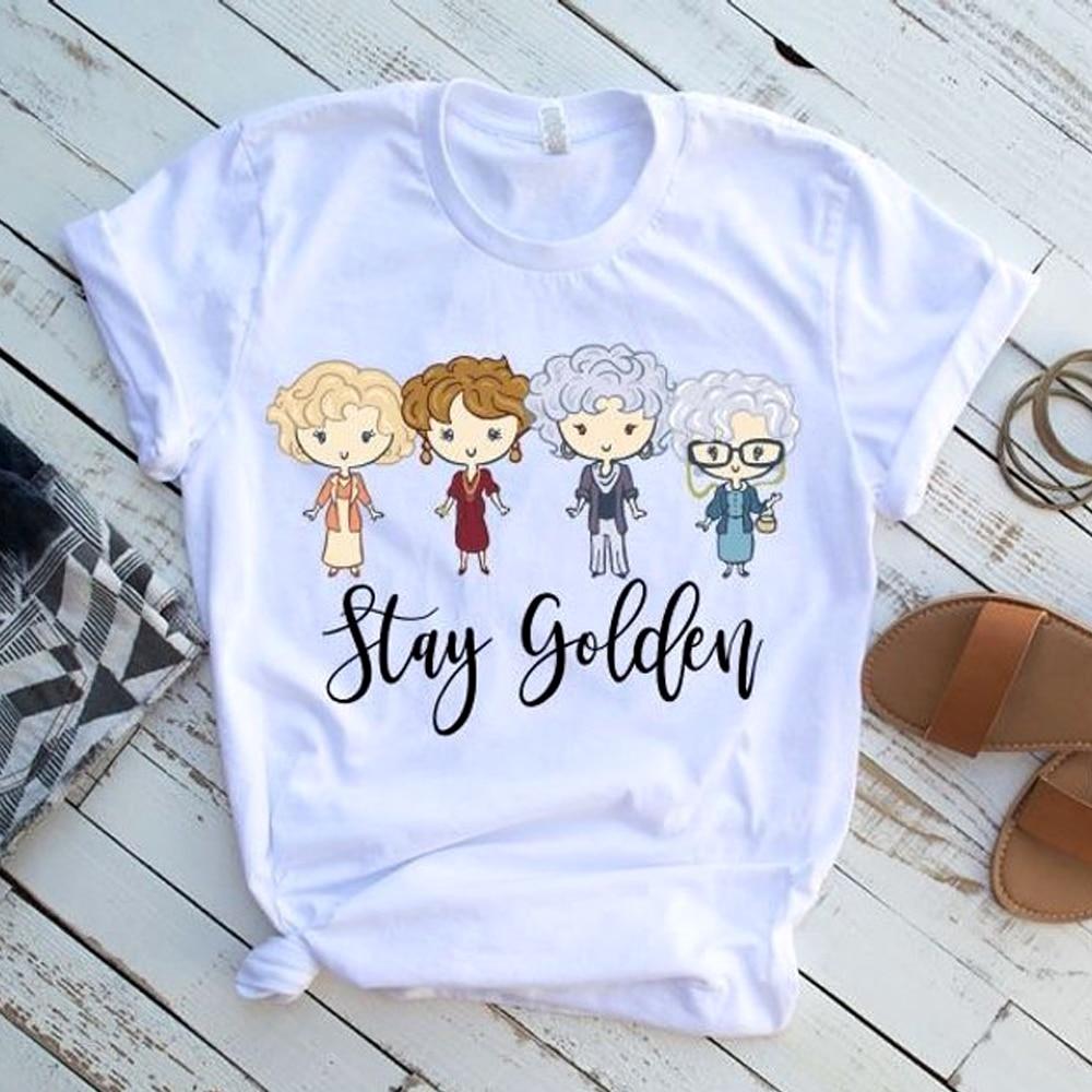 As meninas douradas inspiraram a estadia camisa dourada para o presente dourado do amigo do fã das meninas