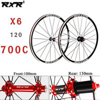 RXR Road Bike Wheelset 700c Bearing Wheels 7 11 Speed V Brake Clincher Front Rear Wheelsets Fit Shimano Cassette