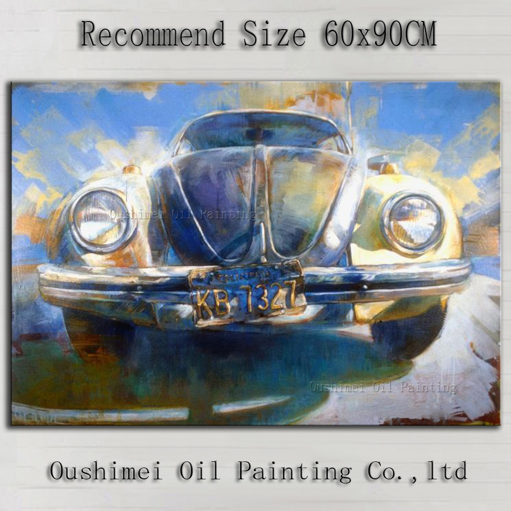 Low Price Supply High Quality Impression Car Oil Painting On Canvas ...