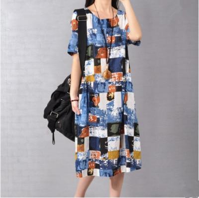 new summer maternity dresses cotton/linen print womens dresses pregnancy dresses maternity clothing summer clothing 16495
