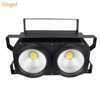 200W COB LED Blinder LED Par Warm White +Cold White And Mixed 2in1 Stage Lamp Effect For Disco Lighting 200W LED Audience Lights