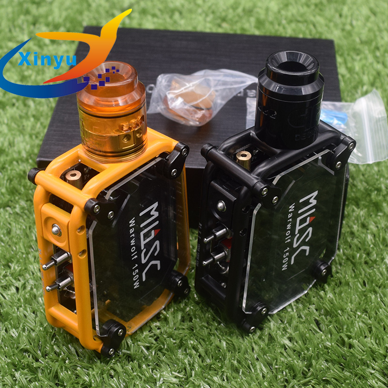 Original Sub Two Warwolf Kit With QP Fatality KALI RDA Instant Large Output 3500mAh Battery 150w E-cigarette Laser Vape Box Mod